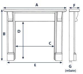Mantel Dimensions