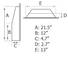 Slimline Dimensions