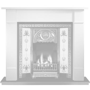 Stone Tiled Fireplace Designer