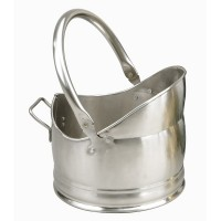 Clandon Helmet Pewter Coal Bucket