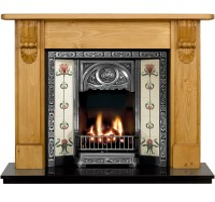 Albert Tulip Wooden Fireplace