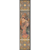 Alphonse Mucha Evening Reverie Tiles
