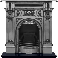 Large Victorian Cast Iron Fireplace