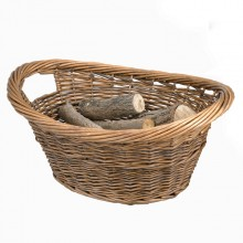 Cradle Wicker Log Basket