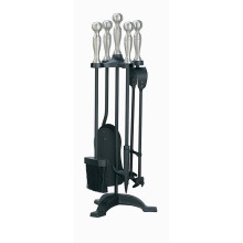 Manor Companion Set Black & Pewter