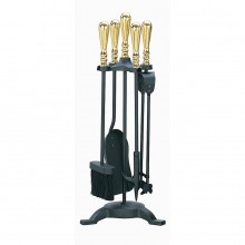 Elegance Companion Set Black & Brass
