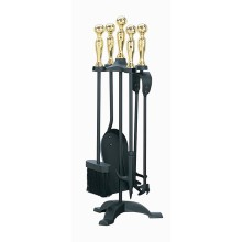 Manor Companion Set Black & Brass