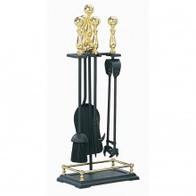 Castle Companion Set Black & Brass