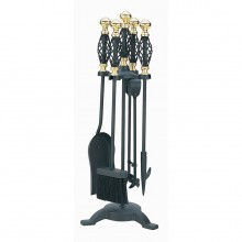 Cage Companion Set Black & Brass