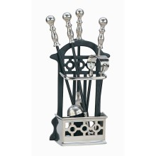 Victorian Companion Set Black & Pewter