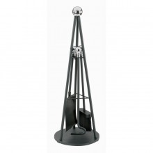 Teepee Companion Set Black & Chrome