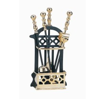 Victorian Companion Set Black & Brass