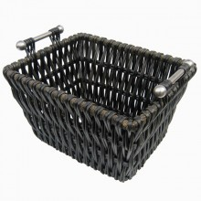 Edgecott Black Wicker Log Basket