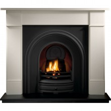 Crown Thornton Limestone Fireplace