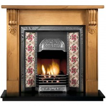 Galway Large Carved Wooden Fireplace