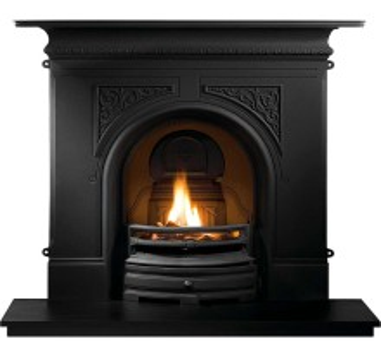 Pembroke Black Cast Iron Fireplace