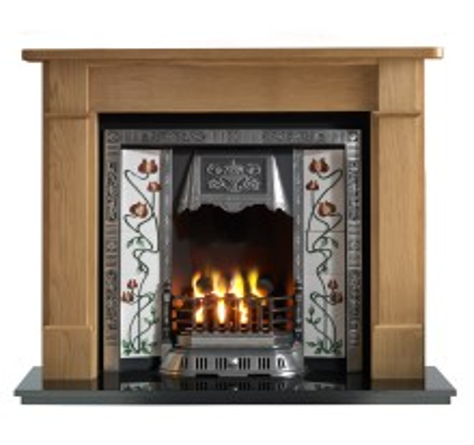 Brompton Balmoral Wooden Fireplace