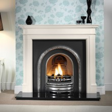 Lytton Bartello Limestone Fireplace