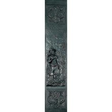 Boy and Girl Cast Iron Panel