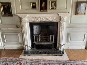 16th century fireplace at petworth house and gardens