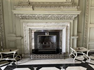 victorian fireplace at petworth house